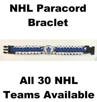 """(HCW) Toronto Maple Leafs NHL Hockey Logo Paracord 8"""" Bracelet - New in Package"""