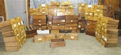84 Wood Drawers from Country Hardware Store Display Cabinet Showcase Counter