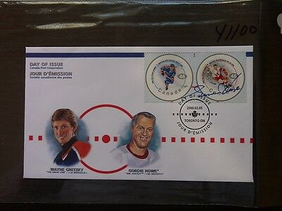 Gordie Howe Detroit Red Wing Autograph Signature On  Canada First Day Issue