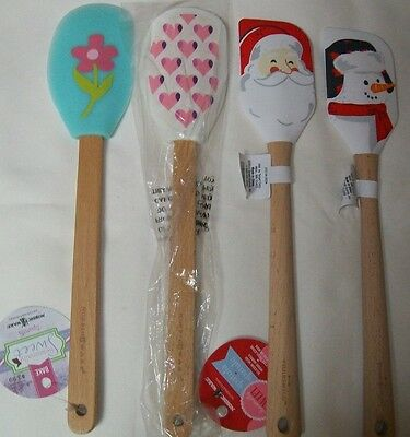 LOT of 4 Holiday Silicone Spatula Nordic Ware + Threshold Valentine Spring NEW