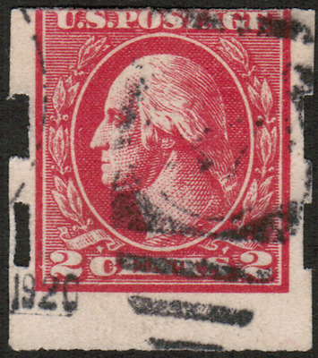 US #534 2c Offset Printing Imperf. Type Va USED Stamp