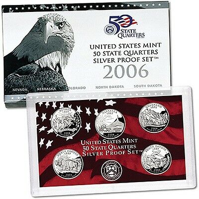 2006 S US Mint Silver Proof State Quarters Set
