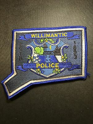 Willimantic Connecticut  Police Shoulder Patch