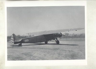 1928 Fokker C7A US Army Airplane Prototype Factory Photograph ww8464
