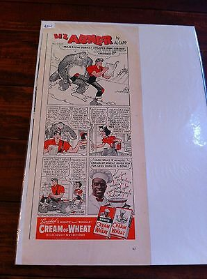 Vintage 1942 Al Capp Lil Abner Cream Of Wheat Man Eatin Gorilla Print ad
