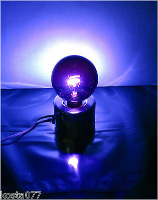 Vintage Purple / Bue Light 100W Bulb, Glow Lamp with Base
