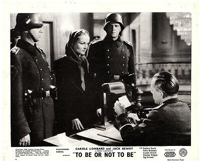 To Be Or Not To Be Original British Lobby Card 1942 Carole Lombard Classic