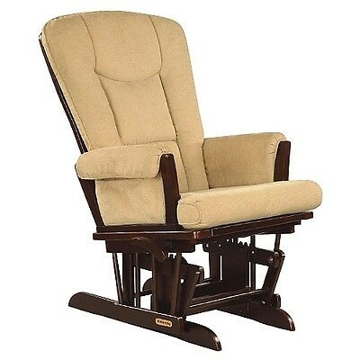 Shermag Glider Rocker, Tea/Vista Biscuit