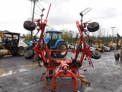 Kuhn GF 6502 6 Star Hay Tedder For Tractors, 3 Point Hook Up, 540 PTO, Hyd Fold