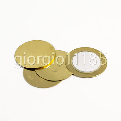 US Stock 50x 20mm Thickness 0.33mm Piezo Disc for Buzzer Pressure Sensor Speaker