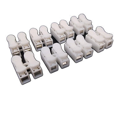 50 pcs CH2 Quick Connector cable clamp Terminal Block Spring Connector Wire LED