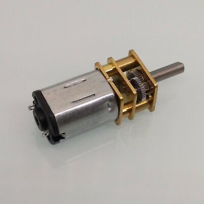 DC 12V 300RPM Mini Metal Gear Motor With Gear Wheel Model: N20 3mm Shaft Dia