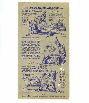 "NABISCO:  ""STRAIGHT  ARROW INJUN-UITIES""  ***SERIES #1***   CARD No. 35"