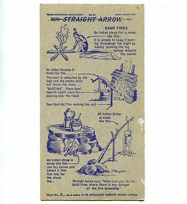 "NABISCO:  ""STRAIGHT  ARROW INJUN-UITIES""  ***SERIES #1***   CARD No. 5"