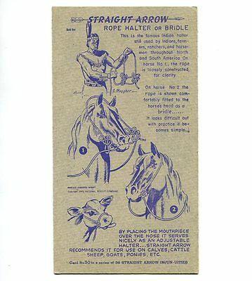 "NABISCO:  ""STRAIGHT  ARROW INJUN-UITIES""  ***SERIES #1***   CARD No. 30"