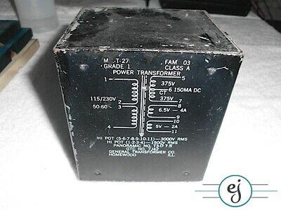 GTC Power Transformer 115/230V  375V  150MA