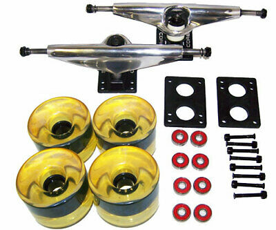 LONGBOARD Package CORE 6 in SILVER TRUCKS 76 Yello WHEELS