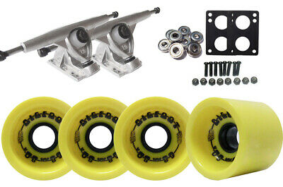Randal 180 LONGBOARD TRUCKS 68mm BIGFOOT YELLOW Wheels