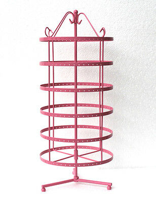 new fashion 288 holes pink rotating earrings display stand rack holder