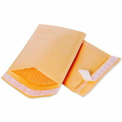 50 pcs #000 Kraft Bubble Padded Self-Sealing Envelopes Mailers 4X8 (Inner 4x7)