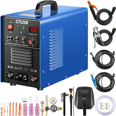 CT520D Plasma Cutter Tig Stick Welder 3 in 1 Combo Welding Machine, 200Amp