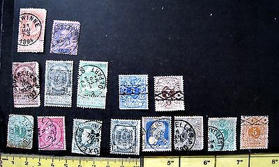 Selection Of Used Early Belgium Stamps