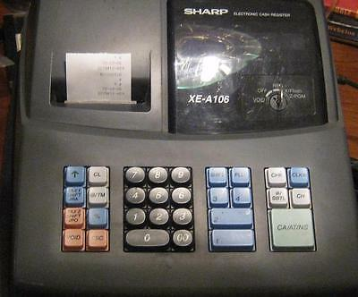 Sharp EX-A106 Electronic Cash Register Working Condition.