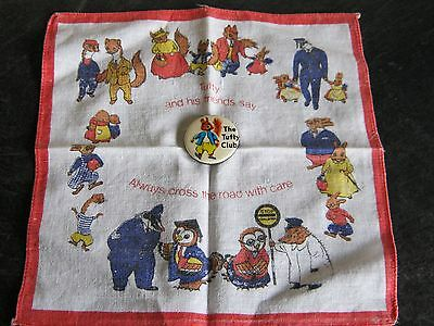 Vintage The Tufty Club Badge and Handkerchief
