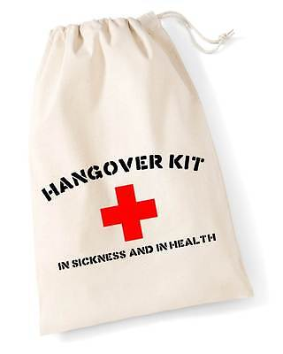 HANGOVER KIT Drawstring Bag (30x25cm) Funny Hen Stag Wedding Do Party Favour