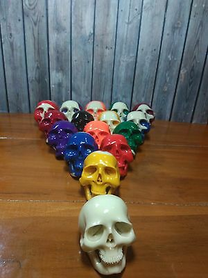1 SET ! 16 PCS Skull Skeleton Head from Billiard Pool Snooker Ball Hand Carving