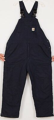 CARHARTT FR Mens Workwear Bib Overall XL Dark Blue Insulated Flame Resistant