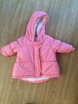 Baby Girl Next Coat Jacket Pink White Up To 3 Months