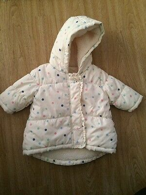 Baby Girl Next Spotty Coat Up To 3 Months