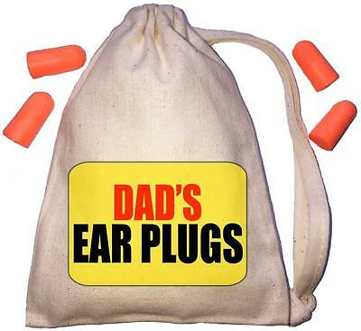 Dad's Yellow Design TINY Ear Plugs Storage Bag & 4 Ear Plugs DIY / Snoring