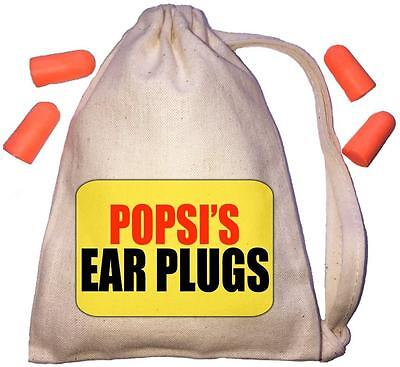 Popsi's Yellow Design TINY Ear Plugs Storage Bag & 4 Ear Plugs DIY / Snoring