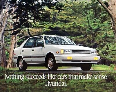 1988 Hyundai Excel dealer brochure - 8 page Fine condition