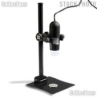 Microscope Digital Camera & Stand Lighthouse 20x-200x w/ LEDs for Coins & Stamps