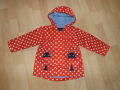 Tu Red White Spotted Ladybird Baby Girls Mac Coat Age 9-12 Months