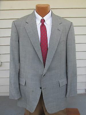 Polo Ralph Lauren Sz 44L Gray Chambray Two Button Lined Vented Men's Sports Coat