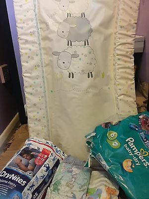 Soft Padded Large Baby Changing Mat With FREE BABY NAPPIES/PULL UPS 19 In Total