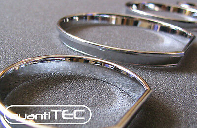 CHROME TACHO RINGS SPEEDOMETER SET FOR BMW E46 3er SNAP IN CLIP WITHOUT BONDING
