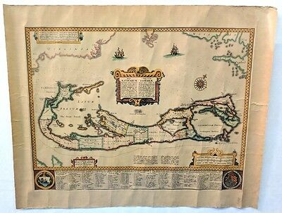 1626 Map of Bermuda ~ Mappa Aestivarum Insularum Alias Bermudas ~ John Speed