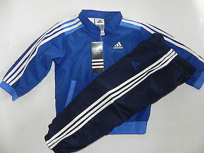 Adidas Jogging Tracksuit IJ 3SWV Suit for kids Blue New