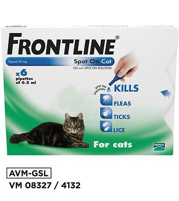 Frontline Spot On Flea & Tick Treatment for Cats DISPATCHES FROM UK AVM-GSL