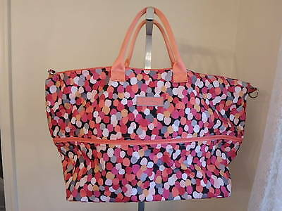 Vera Bradley Lighten Up Expandable Travel Bag Overnight Tote Pixie Confetti New