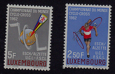 Luxembourg  Scott# 384-385 Mnh  Bicycle Topical