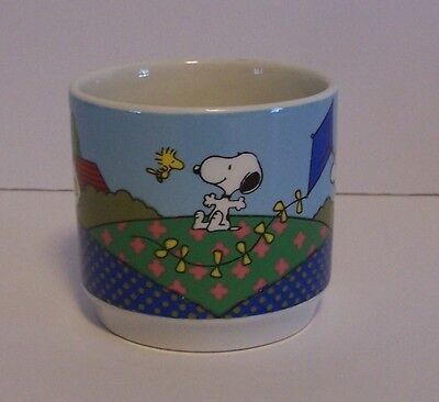 Snoopy Charlie Mug Lucy Woodstock Quilt Kite House Peanuts Cup Vintage England