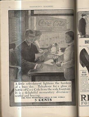 1906 Coca'cola Telephone For A Glass Massengale Everybody's Magazine B&w Intact