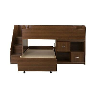 South Shore Mobby Twin Loft Bed with Trundle (39'') and Storage Unit - Morgan Ch