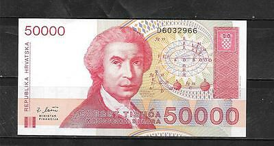 CROATIA #26a UNCIRCULATED MINT 50000 DINARA BANKNOTE NOTE PAPER MONEY CURRENCY